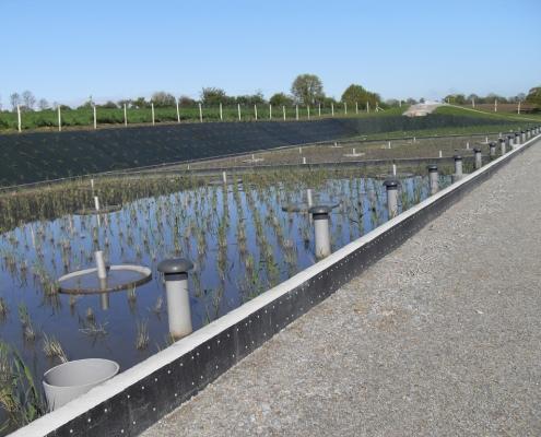 Station épuration filtres plantés dans la commune de CIRIÈRES