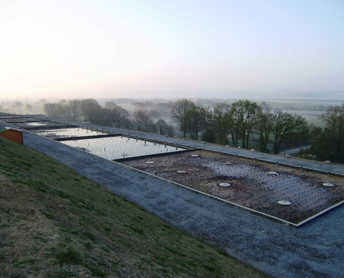 Station épuration filtres plantés dans la commune de LA CHAPELLE-LARGEAU