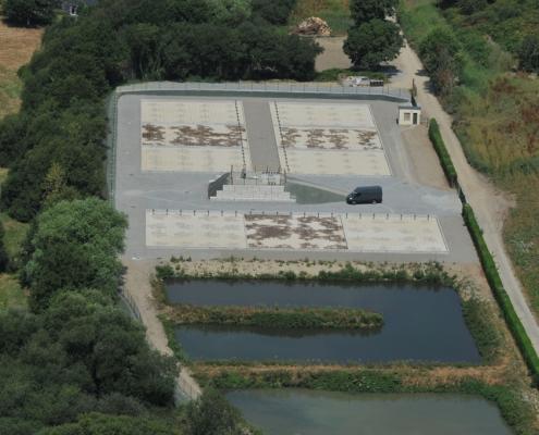 Station épuration filtres plantés dans la commune de SAINT-JEAN-LE-THOMAS