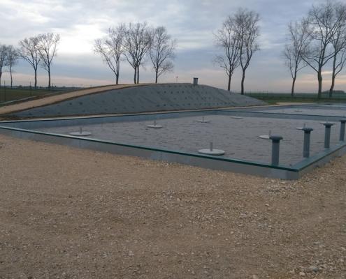 Station épuration filtres plantés dans la commune de ANTHON-LA-PLAINE