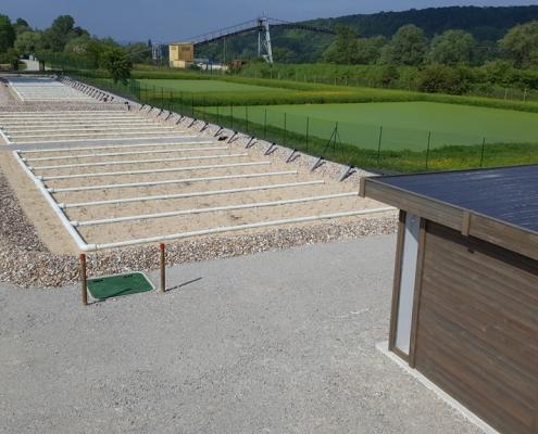 Station épuration filtres plantés dans la commune de BERNIÈRES-SUR-SEINE