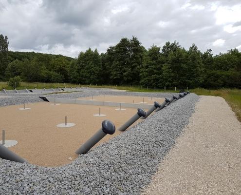Station épuration filtres plantés dans la commune de BRUYÈRE-LE-CHÂTEL