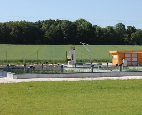 Station épuration filtres plantés dans la commune de CHALAUTRE-LA-PETITE