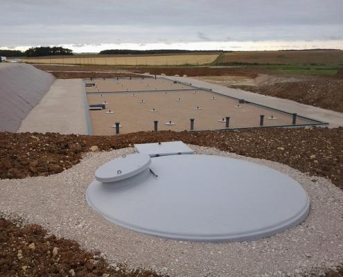 Station épuration filtres plantés dans la commune de CHARSONVILLE