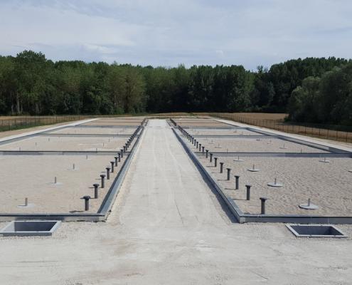 Station épuration filtres plantés dans la commune de CHÂTENAY-SUR-SEINE