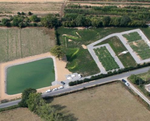 Station épuration filtres plantés dans la commune de CLAZAY