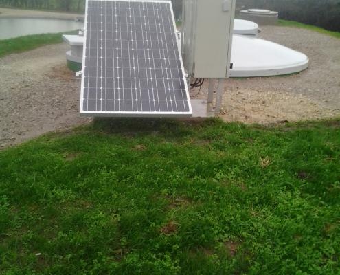 Station épuration filtres plantés dans la commune de COSQUEVILLE