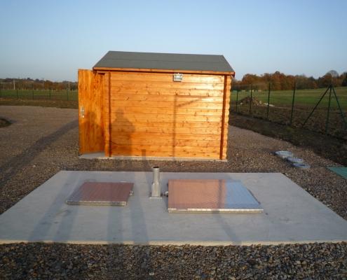 Station épuration filtres plantés dans la commune de COULIMER