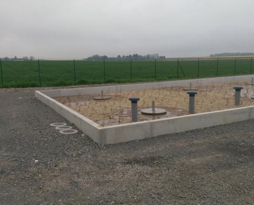 Station épuration filtres plantés dans la commune de DRACHÉ