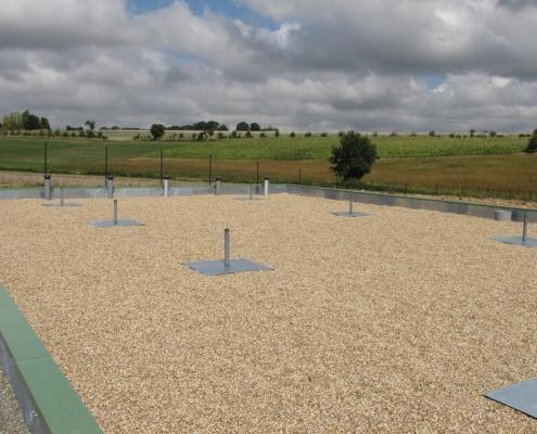 Station épuration filtres plantés dans la commune de ÉPUISAY LE BOURG