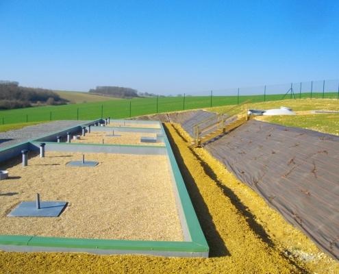 Station épuration filtres plantés dans la commune de ÉPUISAY LE TERTRE