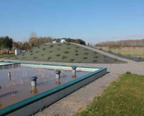 Station épuration filtres plantés dans la commune de FAVEROLLES-SUR-CHER