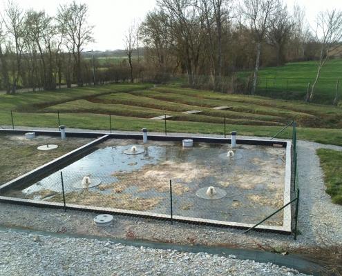 Station épuration filtres plantés dans la commune de GAPRÉE