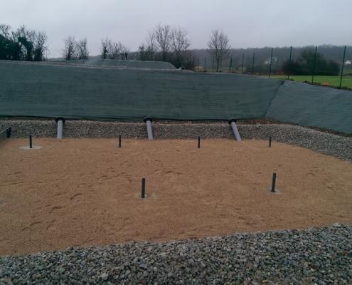 Station épuration filtres plantés dans la commune de HERBEVILLE