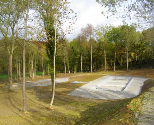 Station épuration filtres plantés dans la commune de JANVRY