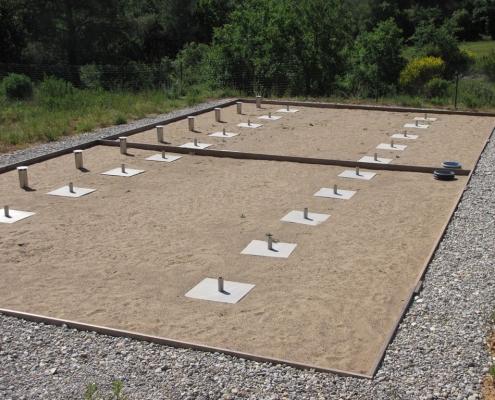 Station épuration filtres plantés dans la commune de LA BASTIDONNE