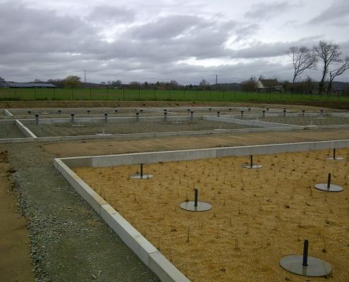 Station épuration filtres plantés dans la commune de LA CHAPELLE-SAINT-RÉMY