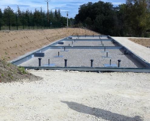 Station épuration filtres plantés dans la commune de LAGARDE-PARÉOL