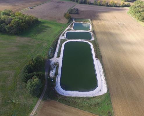 Station épuration filtres plantés dans la commune de LE PLESSIS-FEU-AUSSOUX