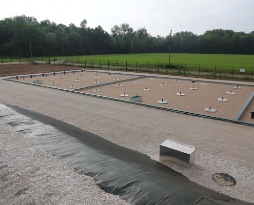 Station épuration filtres plantés dans la commune de MICHERY