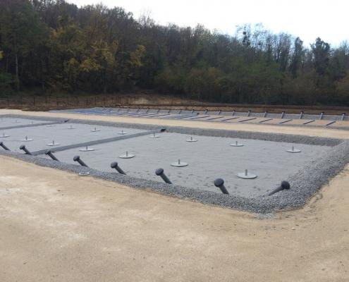 Station épuration filtres plantés dans la commune de MONDEVILLE