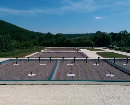 Station épuration filtres plantés dans la commune de PERRIGNY-SUR-ARMENÇON