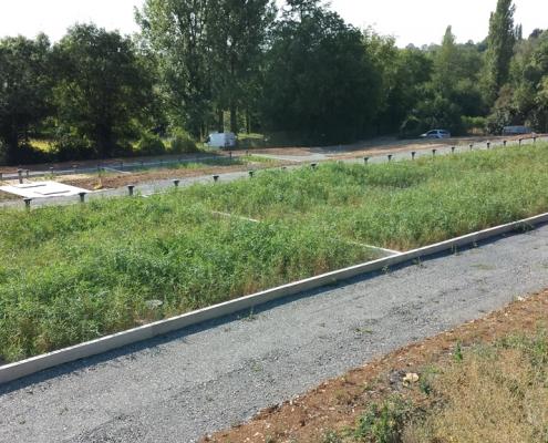 Station épuration filtres plantés dans la commune de PISSOTTE
