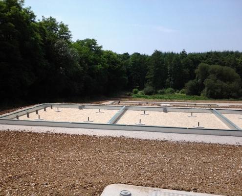 Station épuration filtres plantés dans la commune de PLANCHES