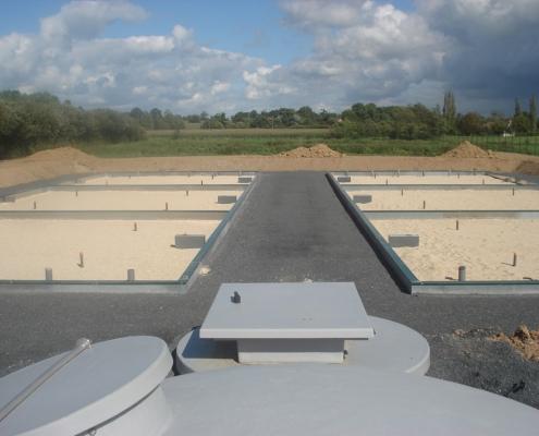 Station épuration filtres plantés dans la commune de REMILLY-SUR-LOZON