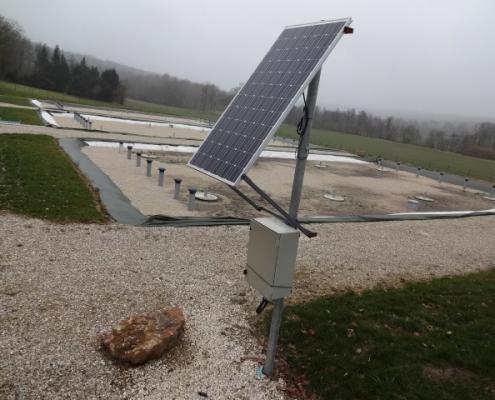 Station épuration filtres plantés dans la commune de SABLONNIÈRES