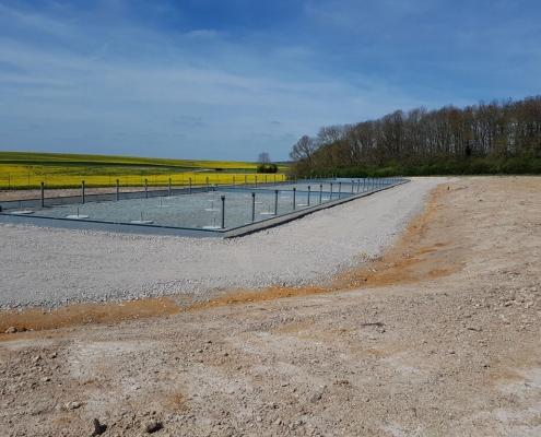 Station épuration filtres plantés dans la commune de SAINT-ARNOULT-DES-BOIS
