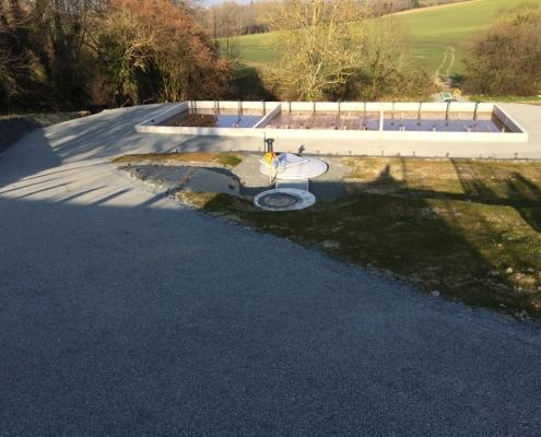 Station épuration filtres plantés dans la commune de SAINT-GERMAIN-DU-CORBEÏS