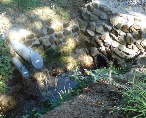 Station épuration filtres plantés dans la commune de SAINT-HILAIRE-DU-MAINE