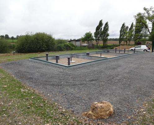 Station épuration filtres plantés dans la commune de SAINT-JULIEN-L'ARS
