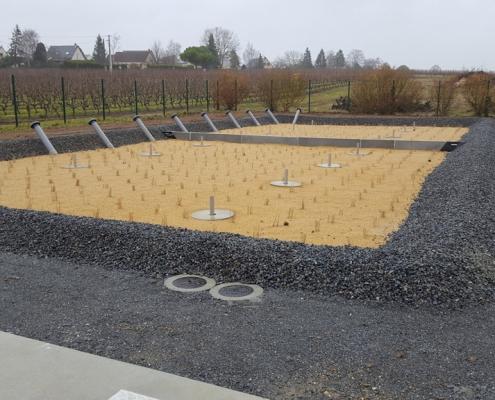 Station épuration filtres plantés dans la commune de SAINT-SATURNIN-SUR-LOIRE