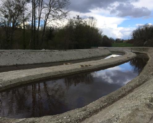 Station épuration filtres plantés dans la commune de SAINT-SAUVEUR