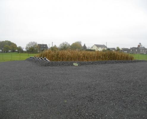 Station épuration filtres plantés dans la commune de SENONNES