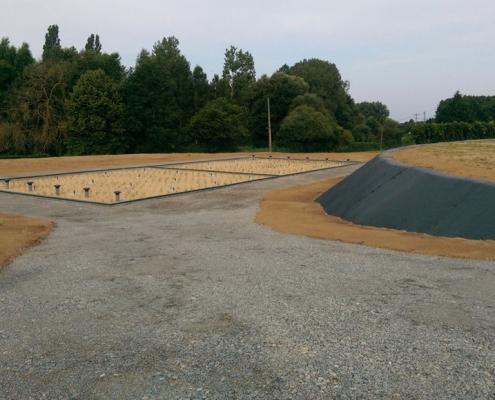 Station épuration filtres plantés dans la commune de SURFONDS