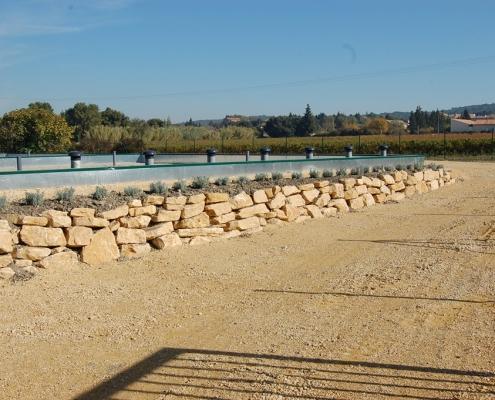 Station épuration filtres plantés dans la commune de UCHAUX Hameau des Farjons