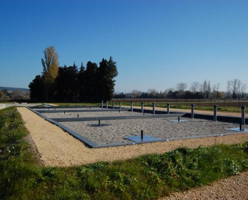Station épuration filtres plantés dans la commune de UCHAUX Hameau des Vincentry