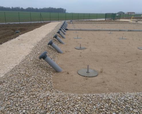 Station épuration filtres plantés dans la commune de VAUCHAMPS