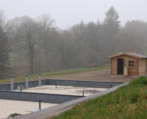 Station épuration filtres plantés dans la commune de VENGEONS