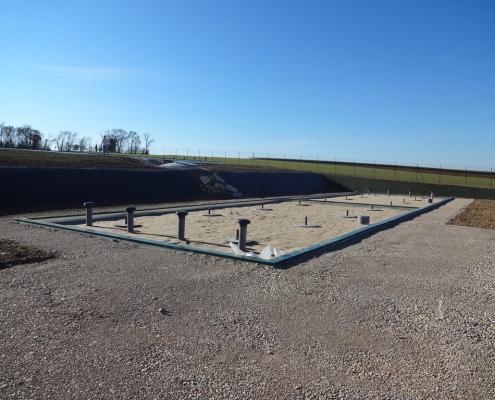 Station épuration filtres plantés dans la commune de VERDILLE