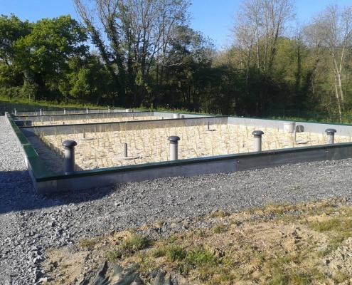 Station épuration filtres plantés dans la commune de VIEUX-BOURG