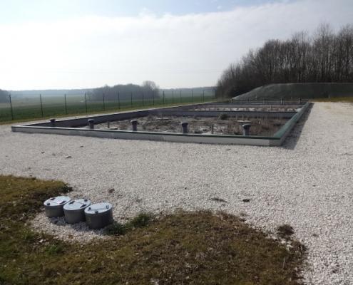 Station épuration filtres plantés dans la commune de VILLENEUVE-LES-BORDES